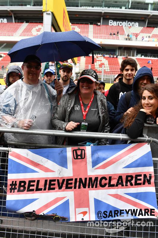 McLaren fans and banner