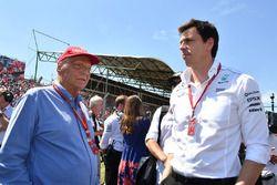 Niki Lauda, Mercedes AMG F1, Aufsichtsratsvorsitzender, Toto Wolff, Mercedes-Motorsportchef