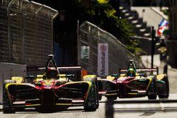 Daniel Abt, ABT Schaeffler Audi Sport, leads Lucas di Grassi, ABT Schaeffler Audi Sport