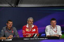 Günther Steiner, Haas-Teamchef; Maurizio Arrivabene, Ferrari-Teamchef; James Allison, Mercedes-Techn