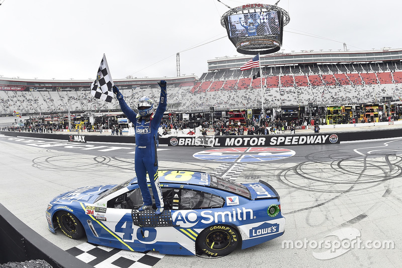 9. Race winner Jimmie Johnson, Hendrick Motorsports Chevrolet