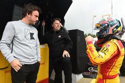 Fernando Alonso; Michael Andretti, Andretti Autosport; Ryan Hunter-Reay, Andretti Autosport, Honda