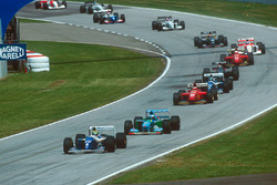 Ayrton Senna, Williams FW16, Michael Schumacher, Benetton B194, Gerhard Berger, Ferrari 412T1, Damon