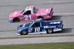 Johnny Sauter, GMS Racing Chevrolet, Austin Cindric, Brad Keselowski Racing Ford