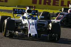 Felipe Massa, Williams FW40, Kevin Magnussen, Haas F1 Team VF-17