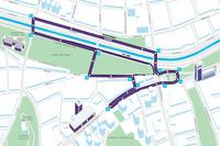 Santiago mapa de pista