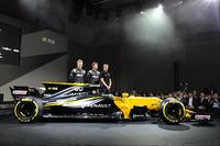 Renault Sport F1 Team drivers Nico Hulkenberg, Jolyon Palmer, third driver Sergey Sirotkin with the Renault Sport F1 Team RS17