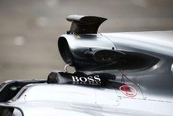 Mercedes AMG F1 W08, l'air scope