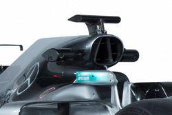Mercedes AMG F1 W08, air scope e roll bar