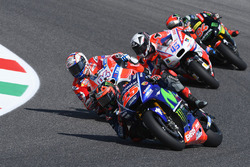 Maverick Viñales, Yamaha Factory Racing; Andrea Dovizioso, Ducati Team; Scott Redding, Pramac Racing; Jonas Folger, Monster Yamaha Tech 3