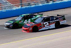 Austin Dillon, Richard Childress Racing Chevrolet and David Starr, TriStar Motorsports Toyota
