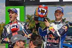Podio: i secondi Sébastien Ogier, Julien Ingrassia, Volkswagen Polo WRC, Volkswagen Motorsport