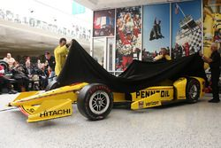 Helio Castroneves, Team Penske Chevrolet unveils the Pennzoil livery for the 100th Indy 500