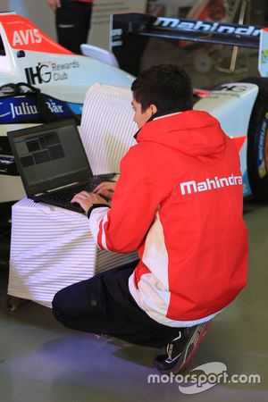 Mahindra Racing mechanics at work