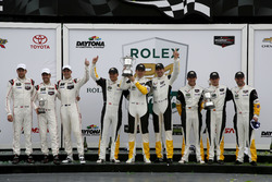 Podium GTLM: Winner #4 Corvette Racing Chevrolet Corvette C7.R: Oliver Gavin, Tommy Milner, Marcel Fässler; 2nd #3 Corvette Racing Chevrolet Corvette C7.R: Antonio Garcia, Jan Magnussen, Mike Rockenfeller; 3rd #912 Porsche Team North America Porsche 911 RS