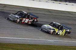 Noah Gragson, Kyle Busch Motorsports Toyota, Justin Haley, GMS Racing Chevrolet