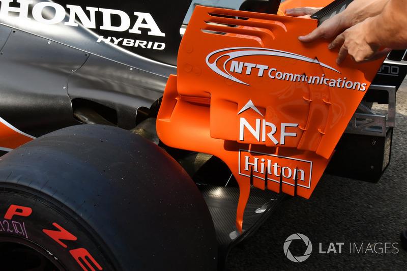 Aileron arrière de la McLaren MCL32
