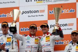 Podium: Sieger #1 Montaplast by Land-Motorsport, Audi R8 LMS: Connor De Phillippi, Christopher Mies