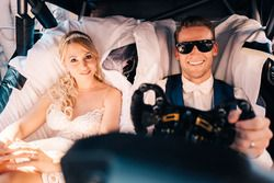 Maro Engel, Mercedes-AMG Team HWA, and his wife, Stefanie Engel