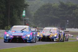 #6 Team LeMans Lexus LC500: Kazuya Oshima, Andrea Caldarelli, #19 Team WedsSport Bandoh Lexus LC500: Yuhi Sekiguchi, Yuji Kunimoto