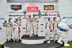 GTLM Podium: race winners Patrick Pilet, Dirk Werner, Porsche Team, second place Gianmaria Bruni, Laurens Vanthoor, Porsche Team, third place John Edwards, Martin Tomczyk, BMW Team RLL