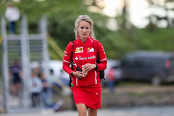 Britta Roeske,  Sebastian Vettel, Ferrari