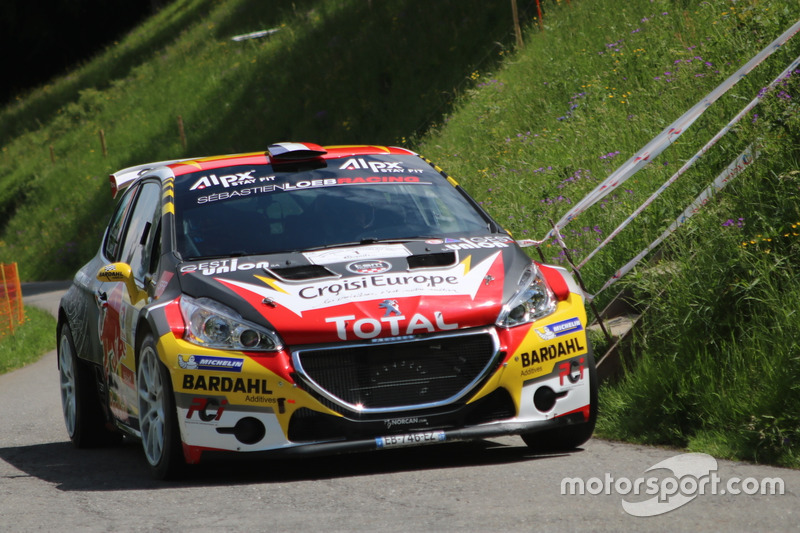 s bastien loeb s verine loeb peugeot 208 t16 r5 s bastien loeb racing rallye du chablais. Black Bedroom Furniture Sets. Home Design Ideas