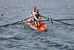 Matt Morris, Engineering Director, McLaren, Stoffel Vandoorne, McLaren, row on the Saint Lawrence River