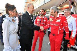 Illham Aliyev, Presidente de Azerbaiyán, Maurizio Arrivabene, director del equipo Ferrari