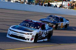 Tyler Reddick, Chip Ganassi Racing Chevrolet and Elliott Sadler, JR Motorsports Chevrolet