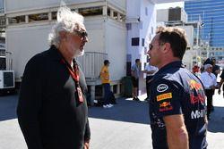 Flavio Briatore, Christian Horner, teambaas Red Bull Racing