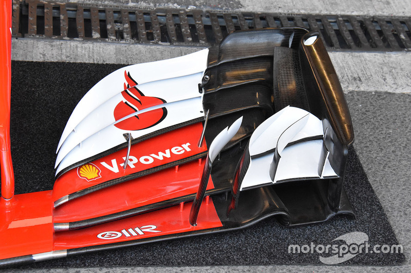 Ferrari SF70H, Frontflügel, Detail