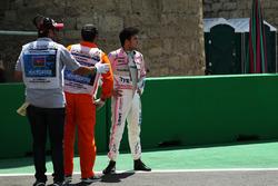 Sergio Perez, Sahara Force India dopo l'incidente nelle FP1