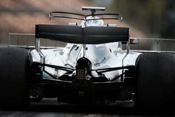 Lewis Hamilton, Mercedes AMG F1 W08, detalle del T-wing