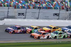 Denny Hamlin, Joe Gibbs Racing Toyota, Daniel Suarez, Joe Gibbs Racing Toyota