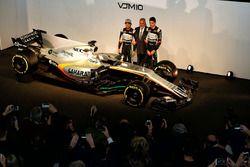 Sergio Pérez, Sahara Force India F1; El Dr. Vijay Mallya, dueño de Sahara Force India F1; Esteban Oc