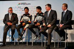 El Dr. Vijay Mallya, dueño del Sahara Force India F1 equipo; Sergio Pérez, Sahara Force India F1; Es