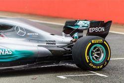 Mercedes AMG F1 W08 Hybrid, задняя часть машины