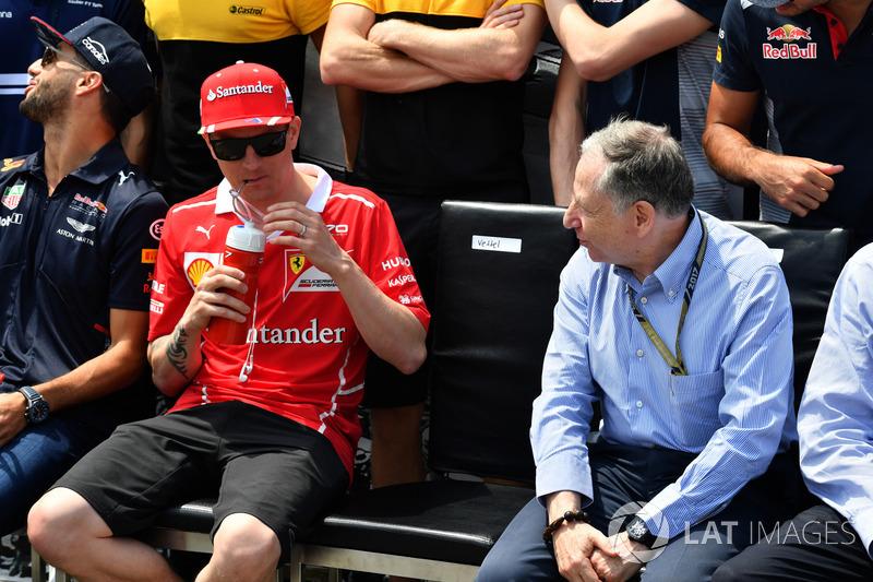 Kimi Raikkonen, Ferrari y Jean Todt, presidente de FIA