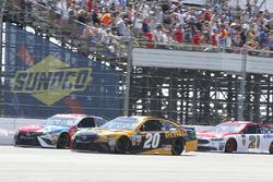 Kyle Busch, Joe Gibbs Racing Toyota, Matt Kenseth, Joe Gibbs Racing Toyota, Ryan Blaney, Wood Brothers Racing Ford