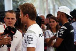 Nico Rosberg, Mercedes AMG F1 with team mate Lewis Hamilton, Mercedes AMG F1