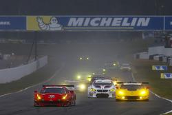 Partenza GT: #62 Risi Competizione Ferrari 488 GTE: Toni Vilander, Giancarlo Fisichella, Alessandro