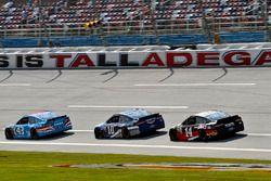 Aric Almirola, Richard Petty Motorsports Ford, Danica Patrick, Stewart-Haas Racing Ford and Clint Bo