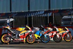 Bikes of Marc Marquez, Repsol Honda Team, Jack Miller, Estrella Galicia 0,0 Marc VDS, Cal Crutchlow,