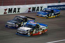 Ben Rhodes, ThorSport Racing Toyota, Ryan Truex, Hattori Racing Enterprises Toyota, and Chase Brisco