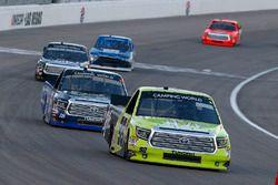 Grant Enfinger, ThorSport Racing Toyota and Ryan Truex, Hattori Racing Enterprises Toyota