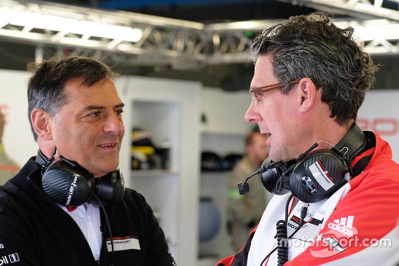 Michael Steiner, Member of the Executive Board Research and Development Porsche AG, Dr. Frank-Steffen Walliser, Head of Porsche Motorsport
