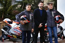 Max Biaggi con Davide Baldini e Alessandro Del Bianco
