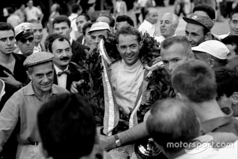 A significant win, despite the absence of the British teams. Hill's 1960 triumph at Monza was the last for a front-engined Grand Prix car, and the first for an American driver in almost 40 years.