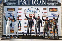 Podio GS : ganadores #60 KohR Motorsports Ford Mustang: Jade Budford, Scott Maxwell, segundo lugar #